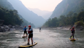 Nepal SUP adventure trip down the Kali Gandaki River with Water Skills Academy