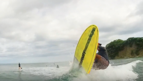 Bottom Turn Compression & Extension - Nosara Paddlsurf SUP Surf Coaching Video