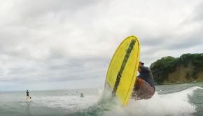 Bottom Turn Compression & Extension - Nosara Paddlsurf SUP Surf Coaching Video