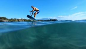 Beach Start SUP Foiling - Worlds First?