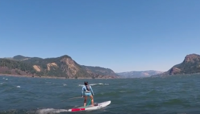 Coaching Noriko Downwind SUP in Hood River, Oregon - The Gorge
