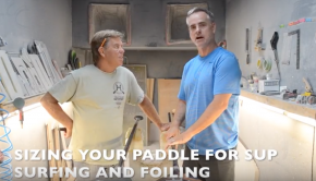 How to size, cut and glue your new paddle for sup foiling, surfing, touring and fishing.