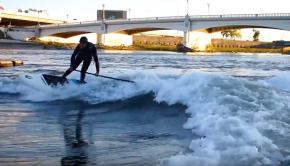 Dayton SUP surfing - Shannon Thomas