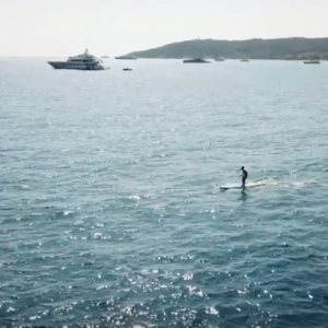 SUP Race Training between the Yachts