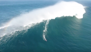 Kai Lenny Surfing on Giant Wave at Pe'ahi, Jaws Maui