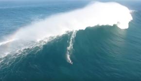 Kai Lenny Surfing on Giant Wave at Pe'ahi, Jaws Maui