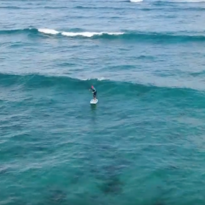Two minutes riding one wave with SUP Foil