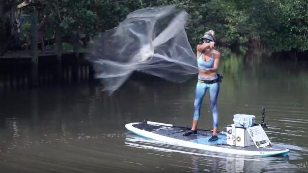 Throwing a SUP Cast Net | Salt Life