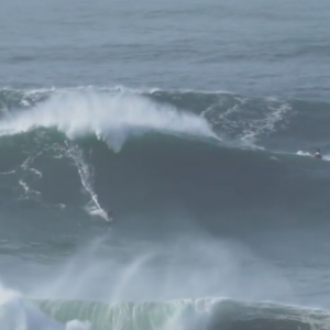 BIG DAY, 60+ Foot Waves hit Nazare - RAW FOOTAGE