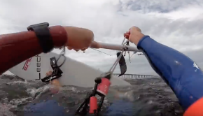 Kiter Dimitri Maramenides getting rescued