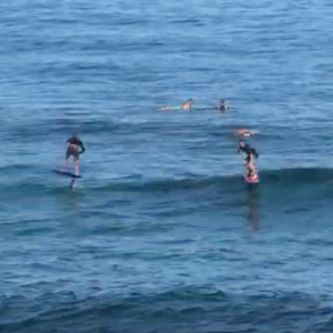 Foil Surfing 3 Waves In a Row - Ho'okipa Beach