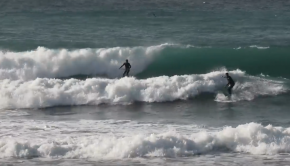 SURFING GROUND SWELL BIG WAVES IN ISRAEL / surf point break 2019
