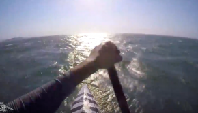 SUP Downwind - Infinity Downtown in action
