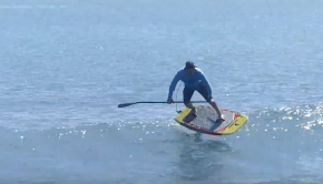 1 wave with Dave Kalama! SUP foiling