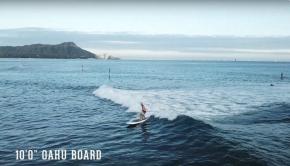 "Surfing the Pau Hana 10'0"" Oahu board in Hawaii"