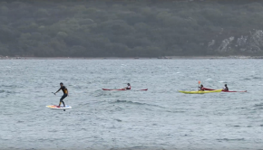 Downwind SUP Foil in Brest Bay