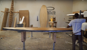 Glassing a wood paddle board