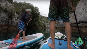 Verdon Gorges on a SUP