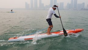 Training session at ICF SUP WORLDS QUINDAO (CHINA)