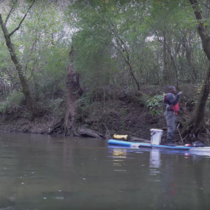Solo River Paddle on Inflatable Stand Up Paddle Board