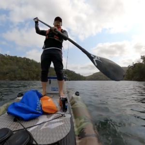 SUP fishing Tailor on soft plastic