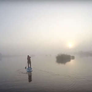 magical morning on a SUP