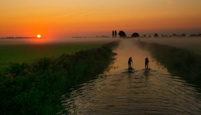 A photo by Benny Jansen (Surfphotography) shot in Friesland in The Netherlands