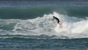 Keahi de Aboitiz Surfing on the East Coast