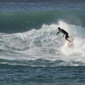 Keahi de Aboitiz Surfing on the East Coast