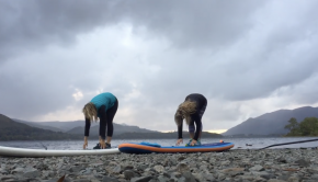 Paddle boarding warm up YOGA flow