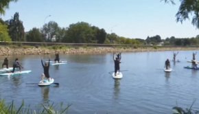 First ever SUP YOGA class