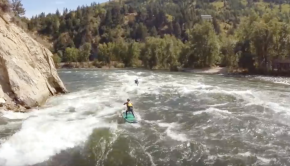 She Walks on Water - Wenatchee River Whitewater Stand up Paddle Board