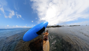 "Learning to Wing Surf on your paddle board. ""Baby steps"""