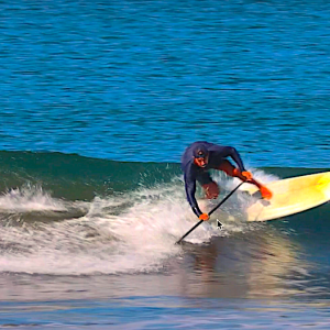 Tutorial on SUP Surf Footwork for Turning and Riding Down the Line with Chase Kosterlitz