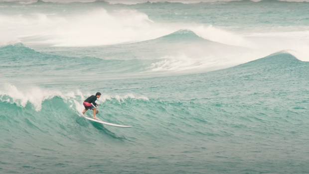 Watch Hawaiian Surfer Koa Rothman going Sup Surfing at Rocky point as he injured his neck surfing...