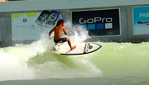 Anthony Maltese on a day surfing at the wave pool in Waco Texas.