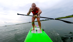 After realizing there are 9 weeks in the APP Fast Tracker, April Zilg makes it her goal to hit 9 MPH while stand up paddling. Can she reach her goal? Check out the video to find out!