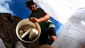 """Join Kai Lenny on this beach clean up video on the island of Maui. Taking care of his local spots, picking up trash with smiles all around. """"Maui is heavily affected by trash in the pacific ocean so we did something about it with Love the Sea. This is the journey to one of the most hard to reach places on all of the island!''"""