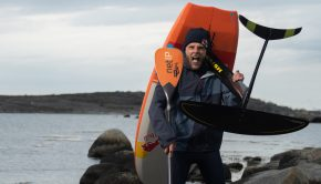 The Kattegat ocean between Denmark and Sweden offered lots of resistance and challenge as the 27-year-old paddle surfer Casper Steinfath foiled across the ocean on Sunday as the first person ever.