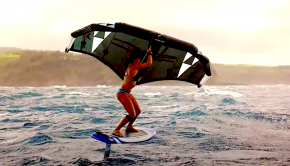 Follow SIC Maui paddler Andrea Moller on a sweet Ocean wing foiling session. Andrea is a mother, a paramedic, a big wave surfer, and a foil and downwind expert. Impressive!