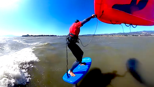 Follow Clay Island on a sweet downwind session at Berkeley Point, California. Connecting the bumps like a pro!