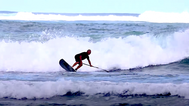 Follow the Blue Zone SUP surf retreat on their local waves in Nosara, Costa Rica!