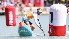 American Connor Baxter set fastest times in both the technical and the sprint disciplines as the 2021 ICF Stand Up Paddling World Championships got underway in Hungary on Thursday.