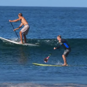 Watch a past Blue Zone SUP Surf Retreat guest progress his sup surfing during his time in Nosara Costa Rica.