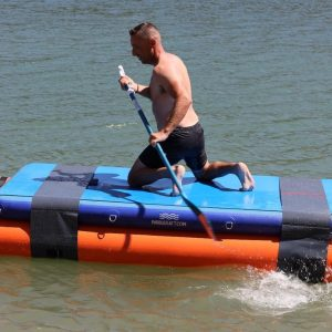 """""""PaddleRaftTM is a new, inflatable watersports product developed and patented by the Danish limited company PaddleRaft Aps. The product will be exhibited at the Paddle Sports Show 2021 in Lyon on Outequip Aps's Booth B23 and will be available for delivery to customers from April 2021. For more info, see www.paddleraft.com."""""""
